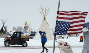 'The message is don't bother going out on the frontlines or we are going to hit you with felonies,' says an activist at the North Dakota camp.