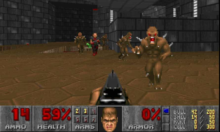 Instantly recognisable – and playable – Doom is the godfather of the first-person shooter genre