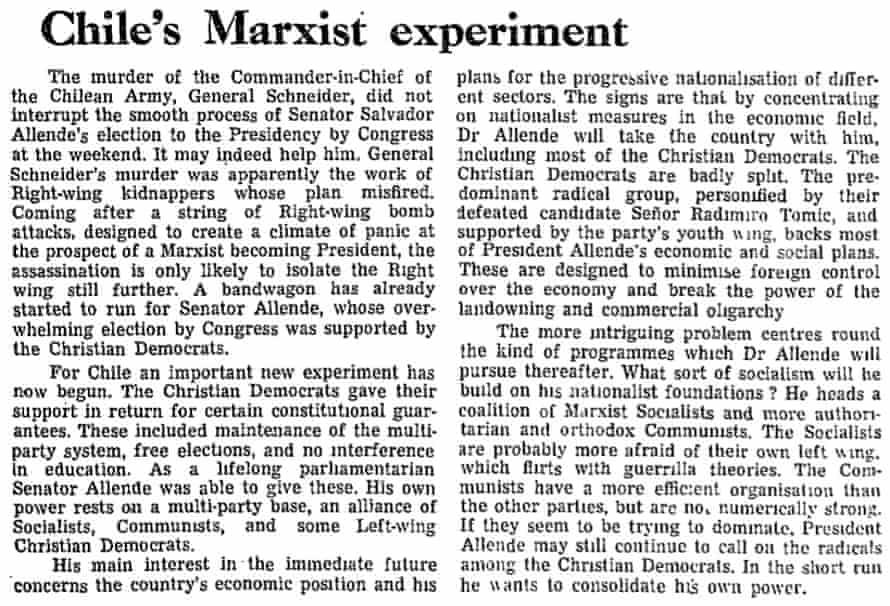 Guardian editorial, 27 October 1970.