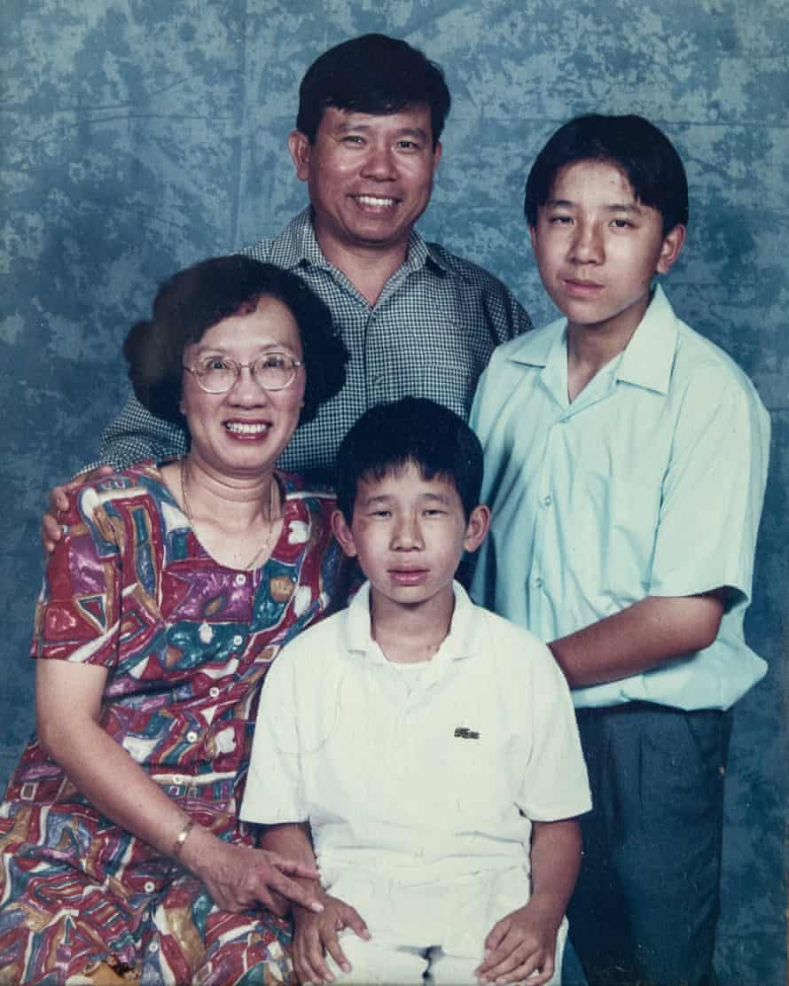 A family photo from several years ago shows Chau Van Kham, his wife Quynh Trang Truong and their sons Dennis and Daniel