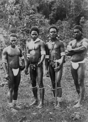 A group of South Sea Islanders in the 1880s.