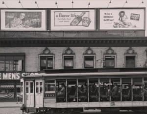 25th Street and Broadway (summer streetcar), Harlem, New York, 1946