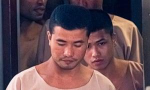 Zaw Lin (centre) and Win Zaw Tun (right)