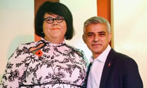 Lamé with mayor Sadiq Khan on the day her appointment as night tsar was announced.