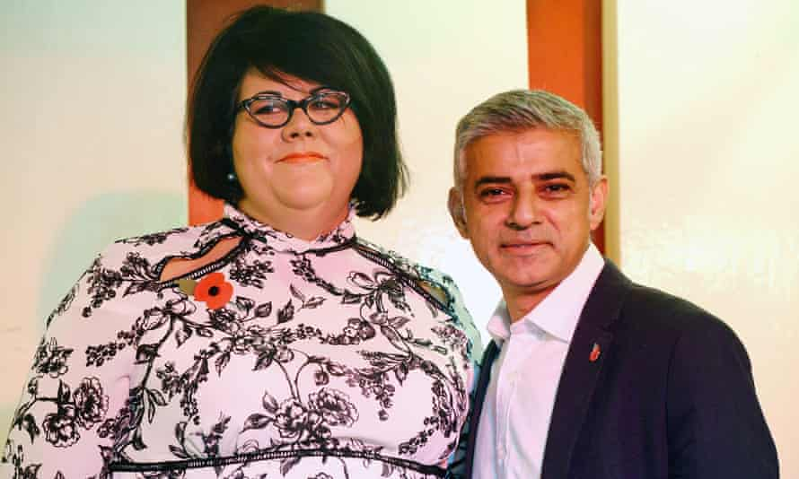 The Mayor of London Sadiq Khan, with Amy Lame, who has been appointed as his first Night Czar