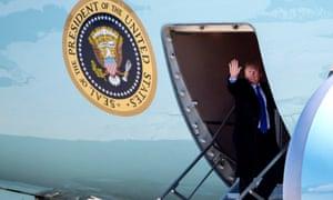 Trump airplane