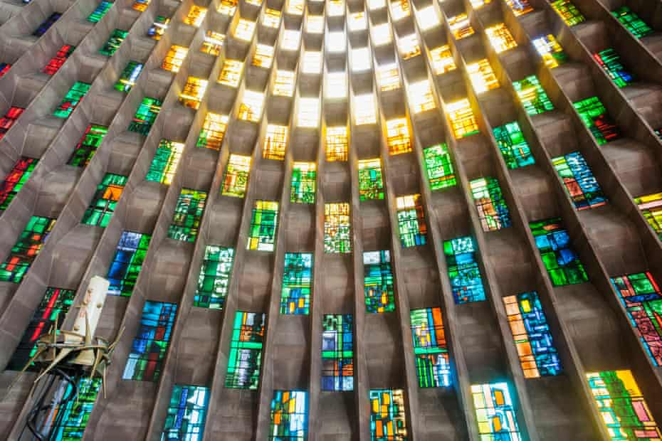 Coventry Cathedral Baptistery Window, designed by John Piper and painted by Patrick Reyntiens