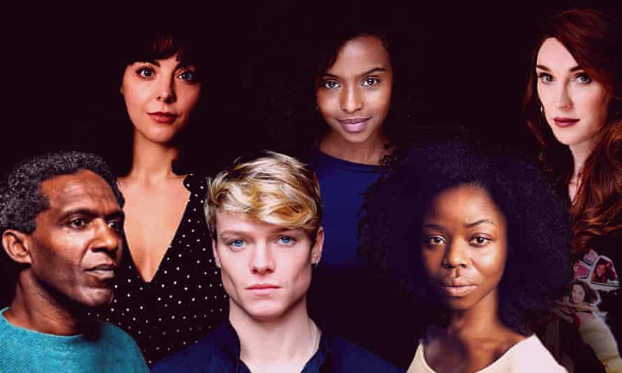 Top row, left-right: Naomi Sheldon, Tsion Habte and Juno Dawson. Bottom row: Lemn Sissay, Tom Rhys Harries and Emmanuella Cole.