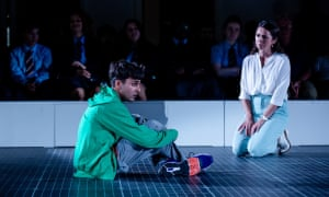 Shiv Jalota with Kathryn McGarr in The Curious Incident of the Dog in the Night Time.