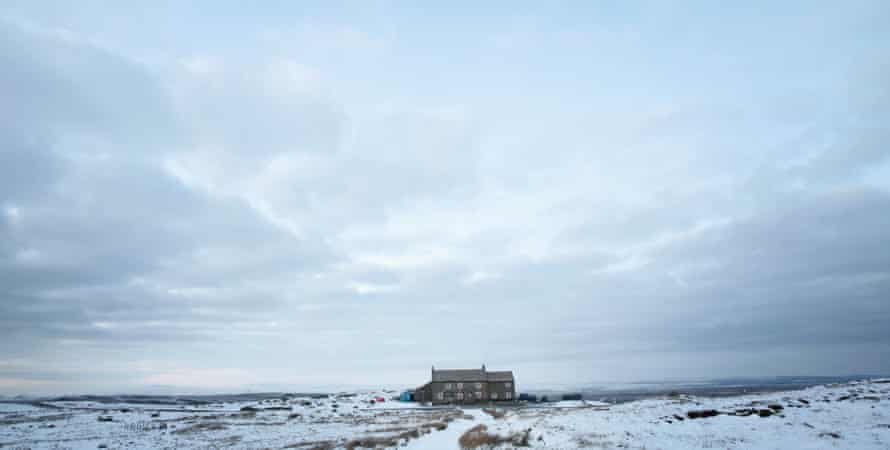 The pub in snow