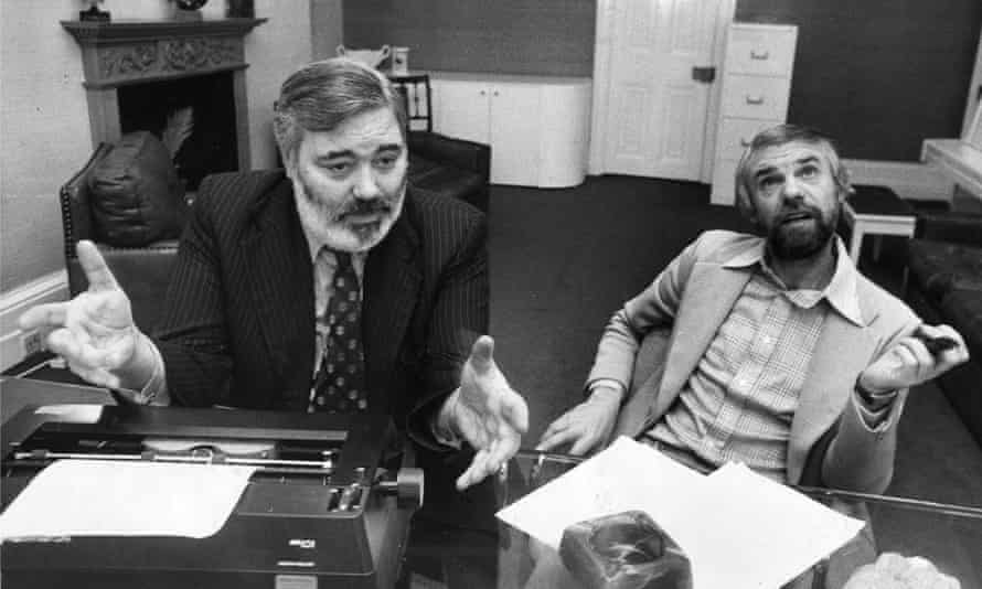 Ray Galton, right, with his writing partner Alan Simpson. They met in a sanatorium when they were teenagers.