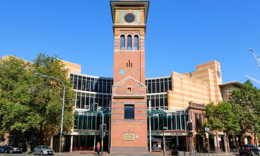 The University of Technology Sydney library and clock tower