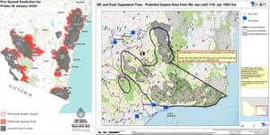 Fire maps for 10 January 2020 in NSW