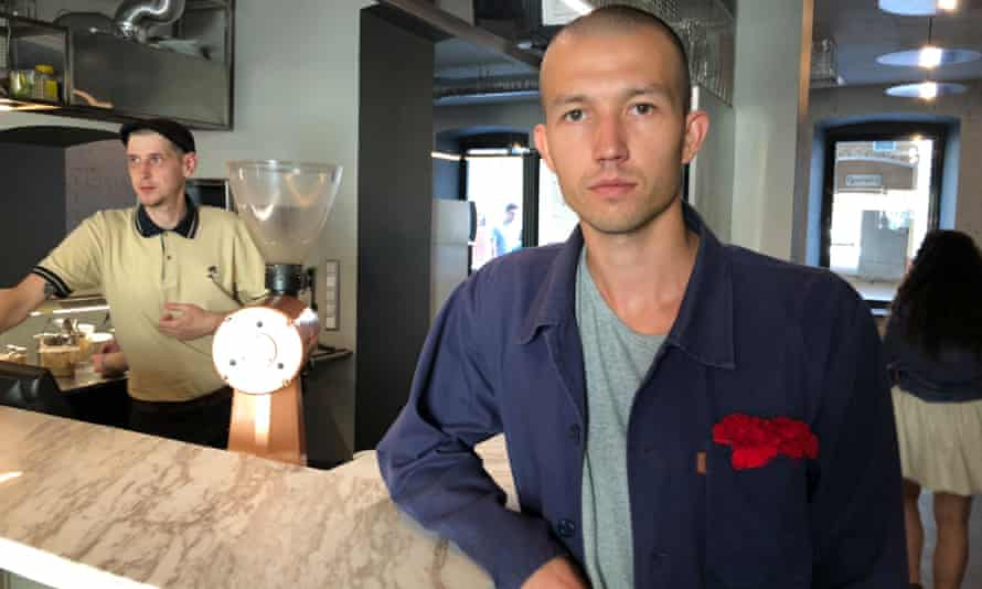 Artem Temirov in Chernyy coffee shop.