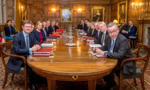 Theresa May and her Brexit cabinet at Chequers in February: what might emerge this time?