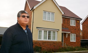 Puneet Verma outside his new home at Whitehouse, Milton Keynes