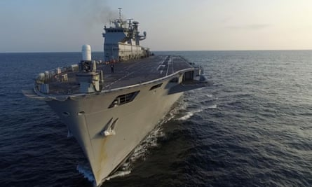 HMS Ocean is at risk from defence spending cuts.