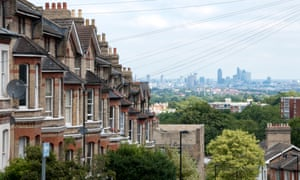 The City of London seen from Woodland Road in Crystal Palace, London
