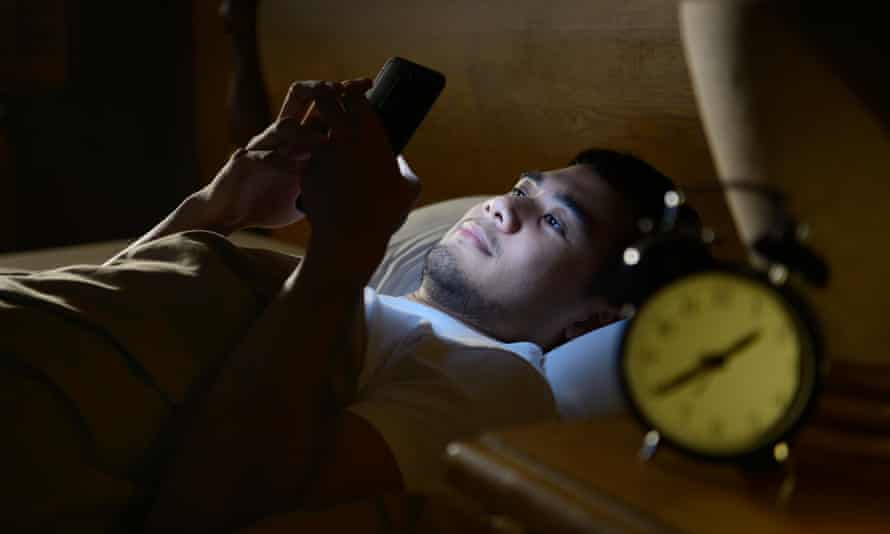 The King's College London study found young adults who used their phone after midnight were most likely to be at high risk of displaying addiction.