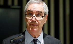 Michael Ignatieff, the rector of Central European University, at a news conference in Budapest