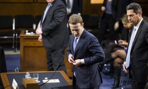 Mark Zuckerberg, the Facebook CEO, testifies before Congress.