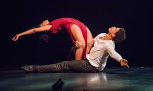 A delicates sense of wonder … Carlos Acosta and Marta Ortega in Sidi Larbi Cherkaoui's Mermaid, from Debut by Acosta Danza at Sadler's Wells, London.