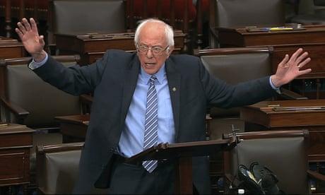 'The universe is collapsing': Bernie Sanders mocks Republicans over coronavirus aid – video