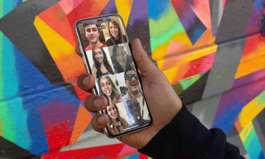 The Houseparty app includes group games.