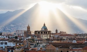 'Between the heavens and the flames' … a view of the city of Palermo.