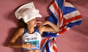 Katarina Johnson-Thompson celebrates world heptathlon glory in Doha