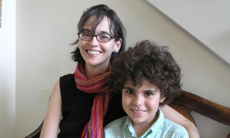 Lenore Skenazy with her son Izzy at around the time she was called the 'world's worst mom'.