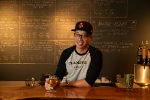 LeRoid David poses for a portrait inside Claimstake Brewing Co., a family owned craft beer place in Rancho Cordova, California.