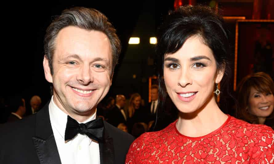 Two of a kind: with partner Michael Sheen.