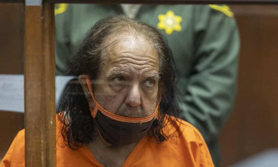 Ron Jeremy at a court hearing last year. LA county prosecutors used secret grand jury proceedings to get an indictment that replaces the original charges.