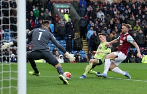 Harry Wilson thinks he has scored the Bournemouth equaliser but Burney were awarded a penalty at the other end.