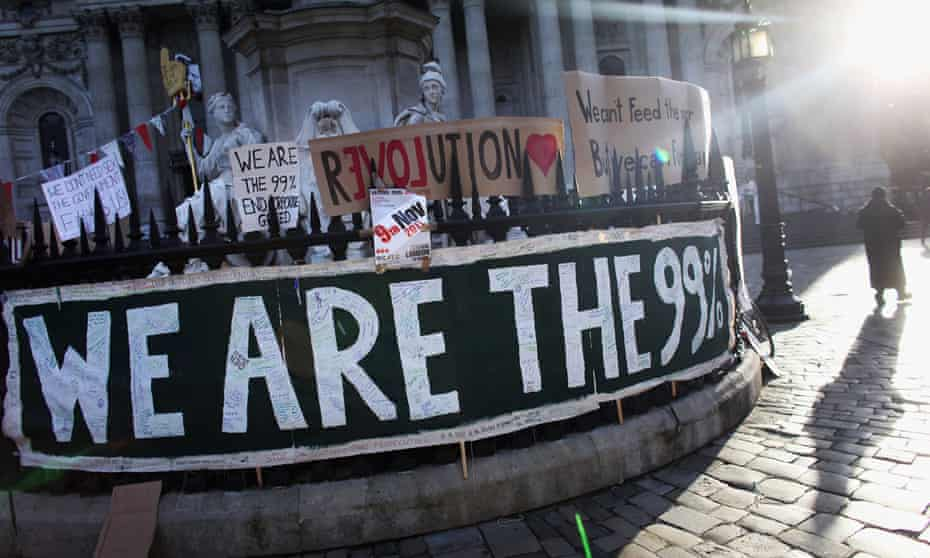 An Occupy protest in London, 2011