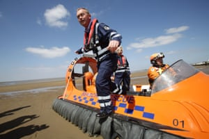 General Election 2017Liberal Democrat leader Tim Farron and the party's local candidate Tessa Munt on board a hovercraft during a visit to the Burnham Area Rescue Boat (BARB), a charity that operates two life-saving rescue hovercrafts and an inshore rescue boat, at Burnham-on-Sea in Somerset. PRESS ASSOCIATION Photo. Picture date: Tuesday May 9, 2017. See PA ELECTION stories. Photo credit should read: Yui Mok/PA Wire