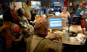 Finnish band Lordi with Lauren Laverne in the Xfm studios.
