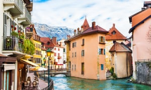 Old town in Annecy, France.