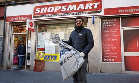 Omar Afzal at Shopsmart in Glasgow