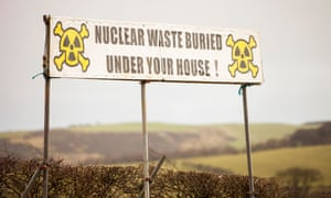 A banner protesting against a proposed nuclear storage facility in the Lake District