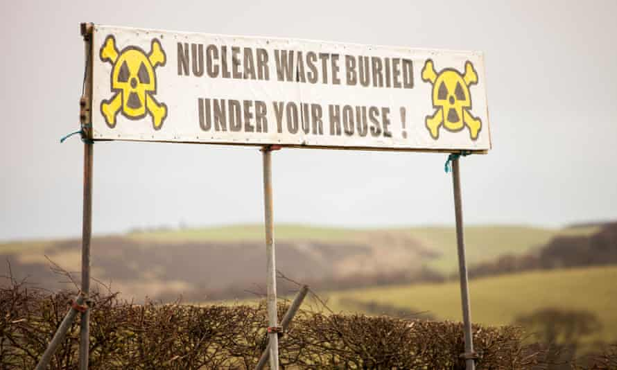 Roadside sign: 'Nuclear waste buried under your house!'