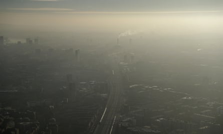 Pollution haze over south-east London.