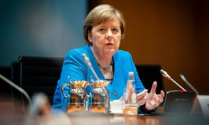 Angela Merkel was speaking to the Guardian and five other European newspapers