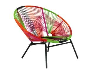 Jambi multicoloured round garden chair