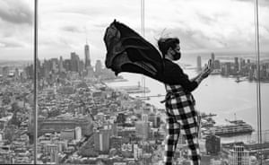 New York, USAnissa Barbato takes pictures from the Edge on the 100th floor of Hudson Yards, the highest outdoor sky deck in the western hemisphere