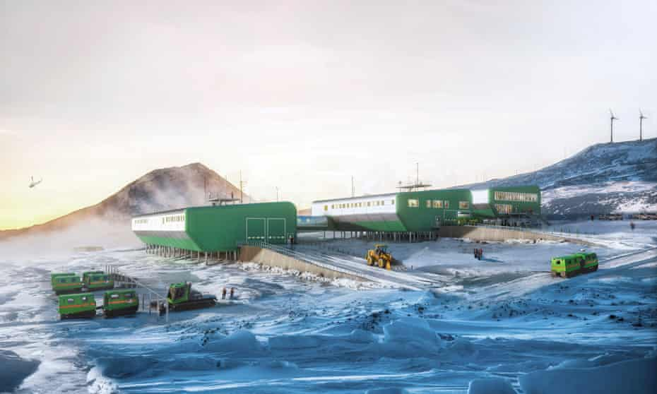 Artist's impression of how the revamped Scott Base will look.
