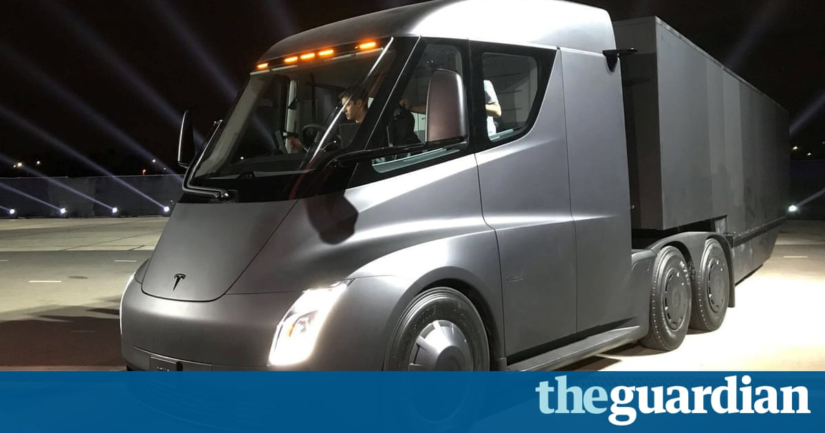 Image result for Elon Musk unveils Tesla electric truck – and a surprise new sports car