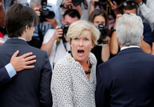 Emma Thompson at the photocall for The Meyerowitz Stories