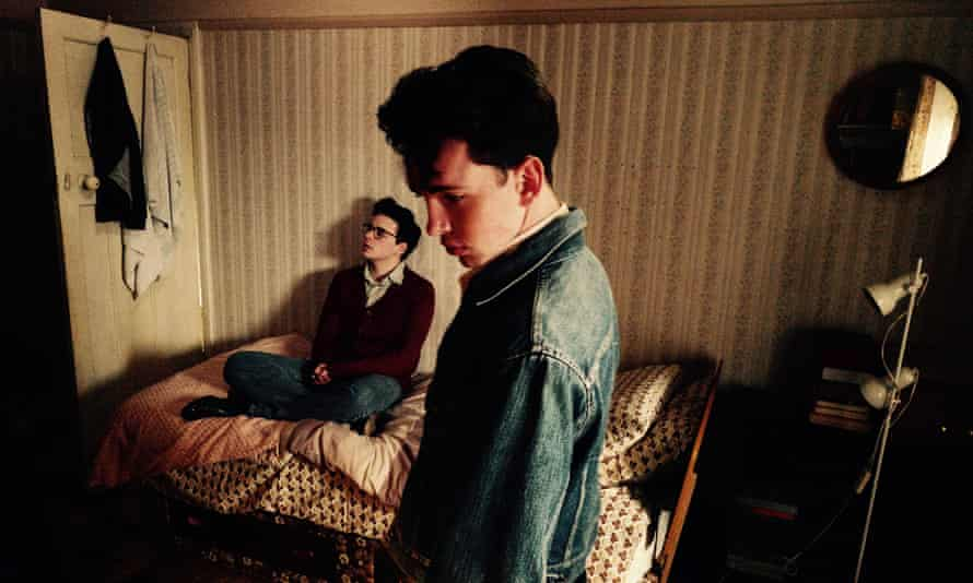 Daydreamers … Jack Lowden, left, as Morrissey and Laurie Kynaston as future Smiths guitarist Johnny Marr in England is Mine